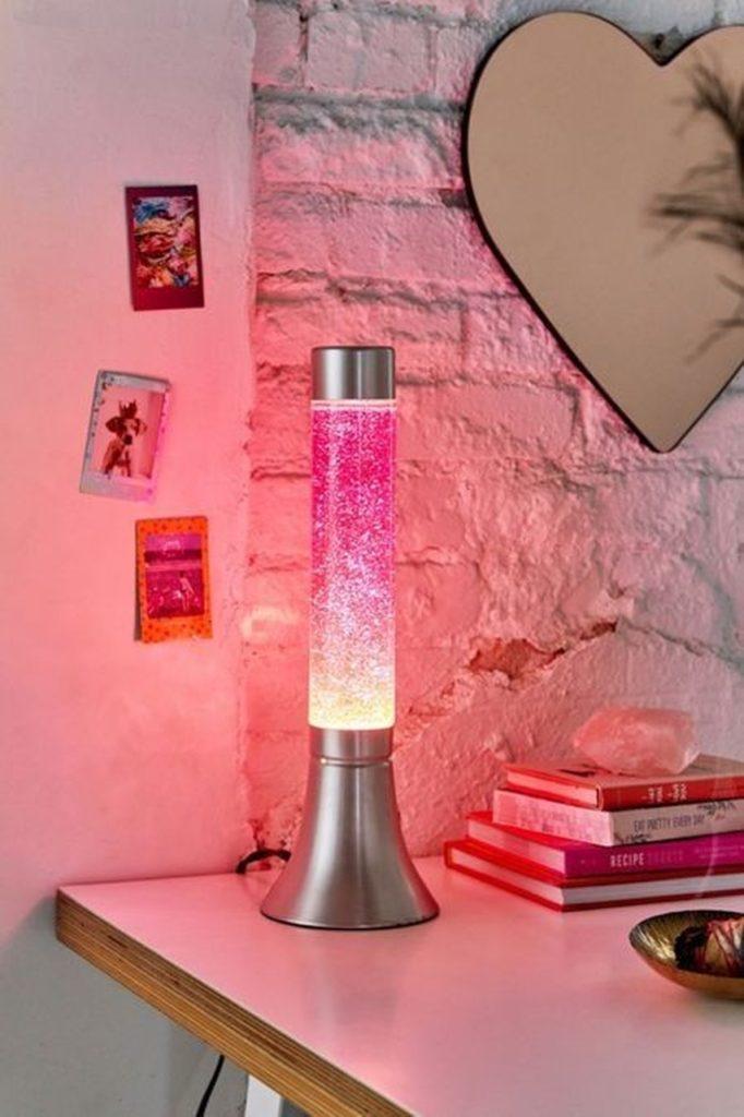 Lava lamp glitter rosa