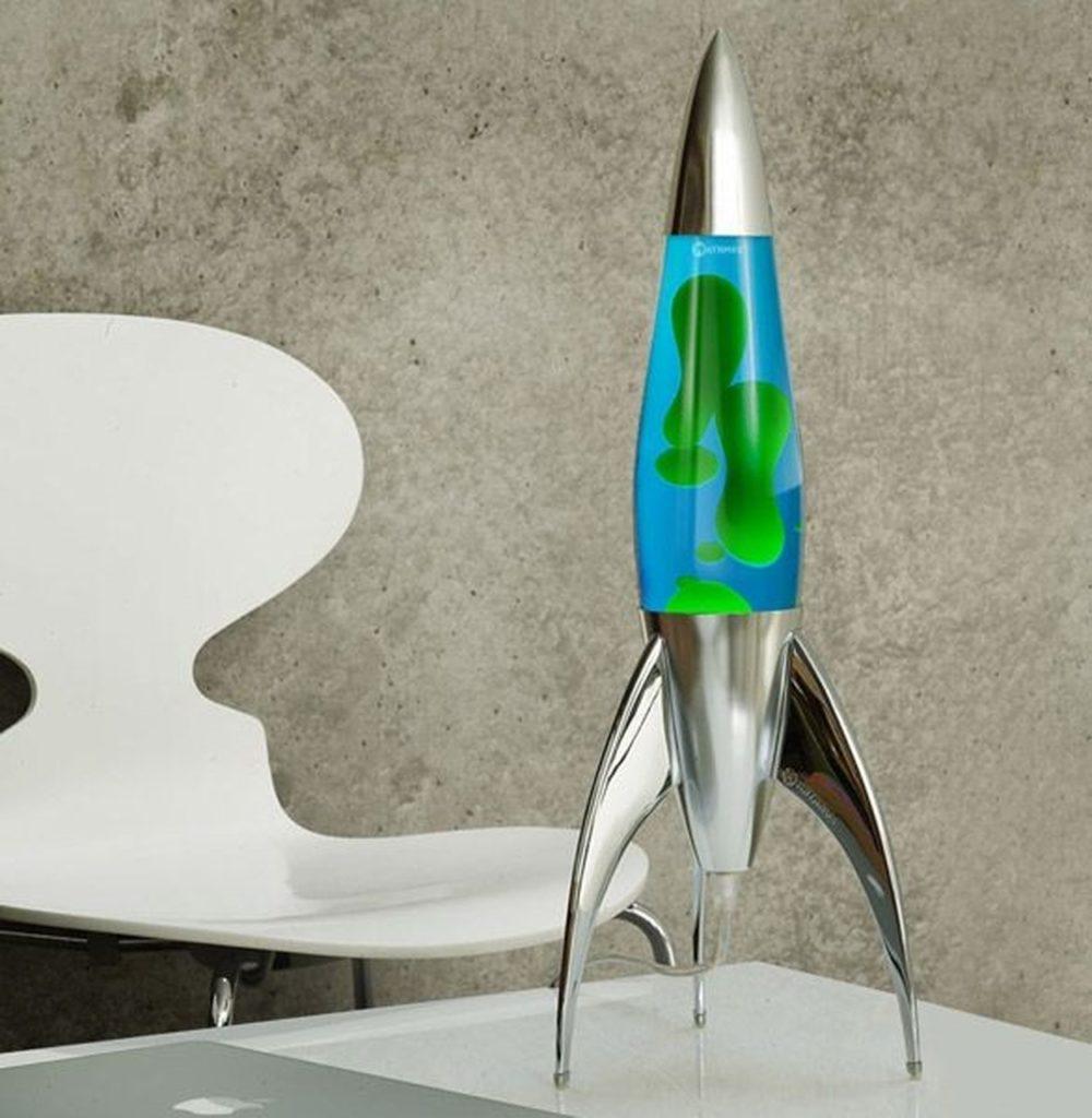 Lava lamp rocket - azul com verde