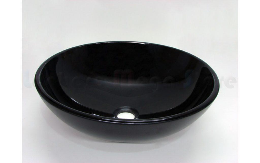 cuba para banheiro preta