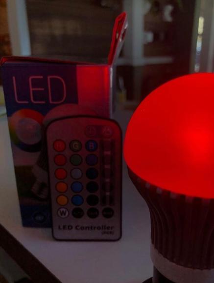 lâmpada led rgb