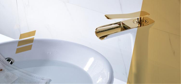 20 ideias lindas para usar com a torneira dourada de banheiro